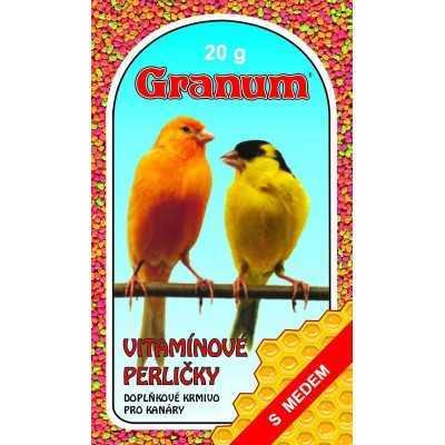 Vitamínové perličky pro kanáry s medem 20 g