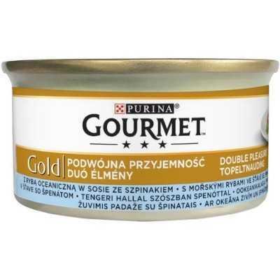 GOURMED GOLD mořské ryby grilované kousky+špenát